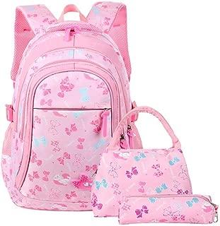 School Bags Backpack Kids Girls Children Student Book Bags Set for School Teenage Girls Kids Zhaozb (Color : Pink)