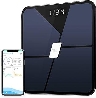 مقیاس چربی بدن بلوتوث ، مقیاس حمام دیجیتال هوشمند مرحله ای ، مقیاس ترکیب بدن ، مقیاس وزن بی سیم برای نظارت بر سلامتی ردیابی تناسب اندام با برنامه ، ظرفیت 400 پوند / 180 کیلوگرم