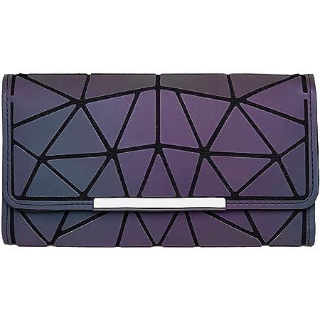 DIOMO Geometrische Damen Geldbörse mit Farbwechsel (Dreifach Gefalteter Stil)