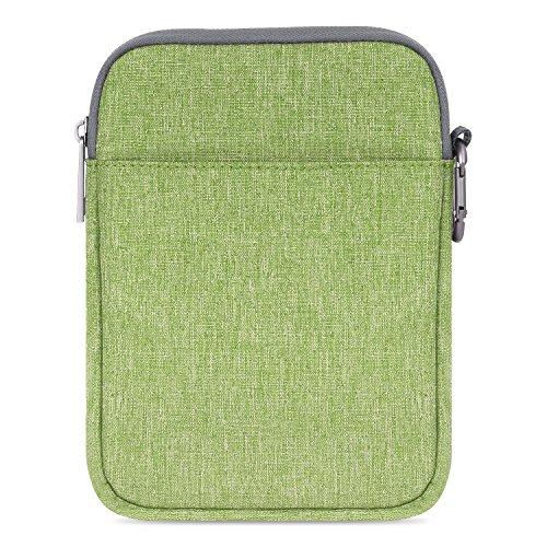 MoKo 6-Pulgadas Funda de Fieltro - Portátil Sleeve Bag Nilón Maletín Cover Case para Amazon Kindle Paperwhite/Voyage/All-New Kindle (8th Generation, 2016) / 6 Inch Kindle Oasis E-Reader, Verde