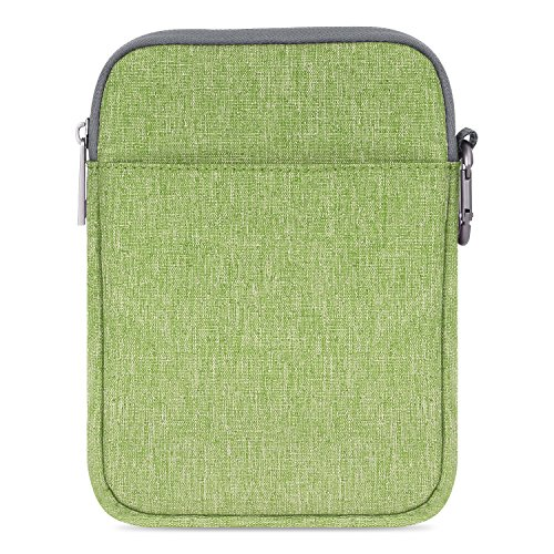 MoKo 6-Pulgadas Funda de Fieltro - Portátil Sleeve Bag Nilón Maletín Cover Case para Amazon Kindle Paperwhite/Voyage/All-New Kindle (8th Generation, 2016) / 6 Inch Kindle Oasis E-Reader, Verde