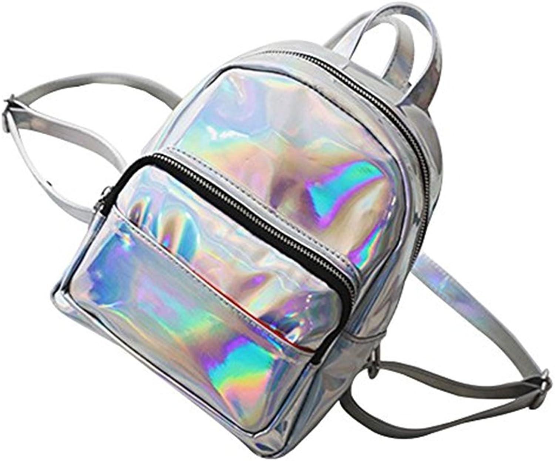 Zhrui Rucksack für Kinder Kinder Kinder Mädchen Crossbody Tasche PU Tasche Bunte holographische Pailletten Kunstleder Rucksack (Farbe   Silber, Größe   M) B07GQNWHLX   Schönes Aussehen  f9c830