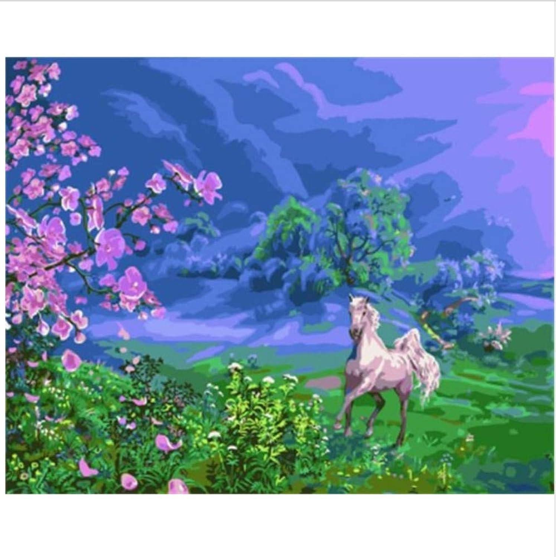 CZYYOU Bilder Bilder Bilder Malerei & Kalligraphie Tiere Pferd DIY Malen Nach Zahlen Auf Leinwand Ölgemälde Home Decor 40x50cm-Gerahmt B07P67982H   Hohe Qualität  ca7fab