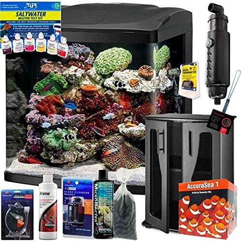 Coralife Size 32 LED BioCube Aquarium Complete Saltwater Fish ONLY Bundle