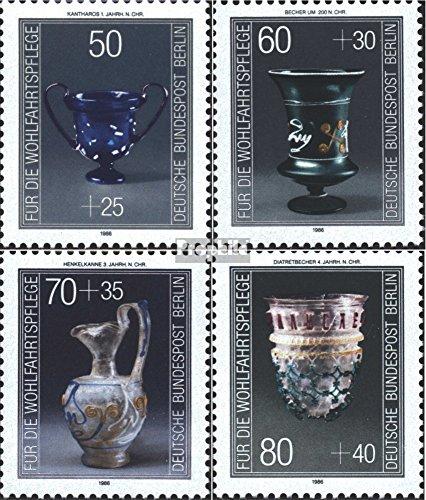 Prophila Collection Berlin (West) 765-768 (kompl.Ausg.) 1986 Wohlfahrt (Briefmarken für Sammler) Glas / Keramik / Porzellan