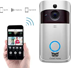 Owlet Home Smart Video Doorbell 720P WiFi Enabled Two-Way Audio/Video Night Vision Motion Detection App Control for iOS and Android, No Monthly Fee with 2 Batteries (Chime and SD Card not Included)