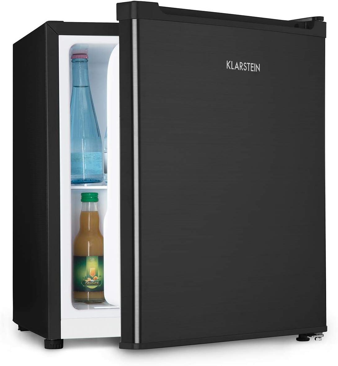 Klarstein Snoopy Eco • Mininevera con congelador • 46 litros de capacidad • Congelador de 4 litros de capacidad • 41 dB • Silencioso • Bajo consumo • Negro