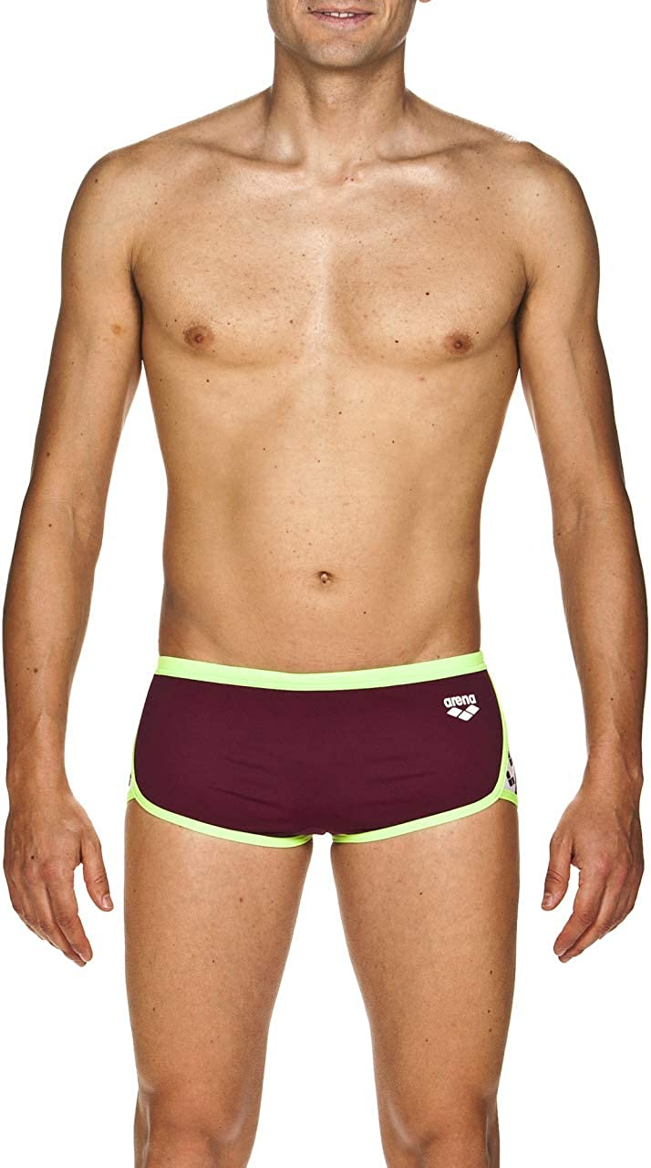 Arena Mens Team Stripe Low Waist MaxLife Swim Short Swimsuit