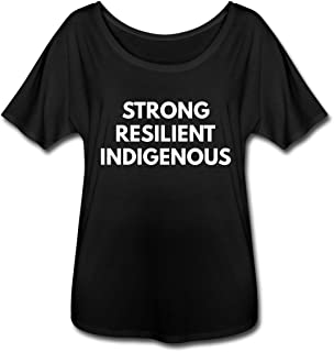 Strong Resilient Indigenous Women's Flowy T-Shirt