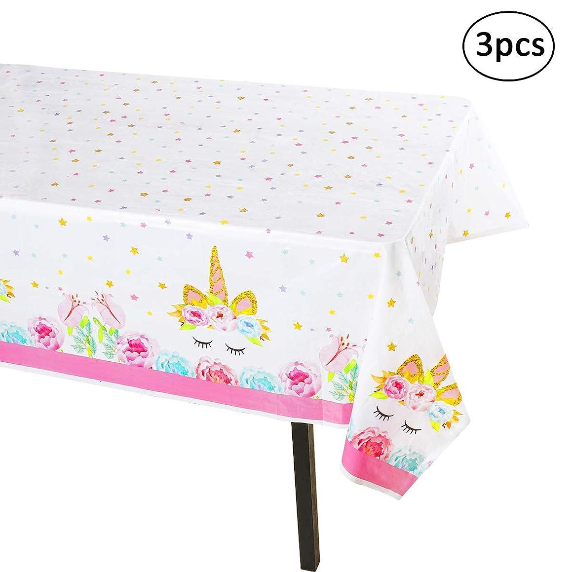 Unicorn Tablecloth - 3 Pack - Large Size(54