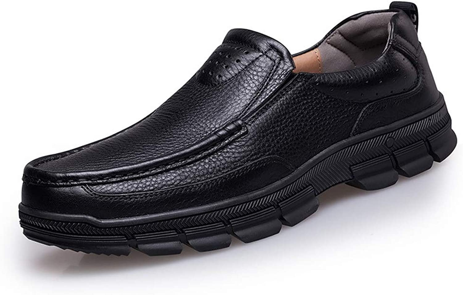 First Layer Leather, Feet, Single shoes, Business Casual Dress shoes Men's Leather shoes. (color   Black, Size   41)