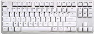 G.SKILL KM360 Professional Tenkeyless Mechanical Keyboard, Cherry MX Red, ABS Dual Injection Keycap, (White)