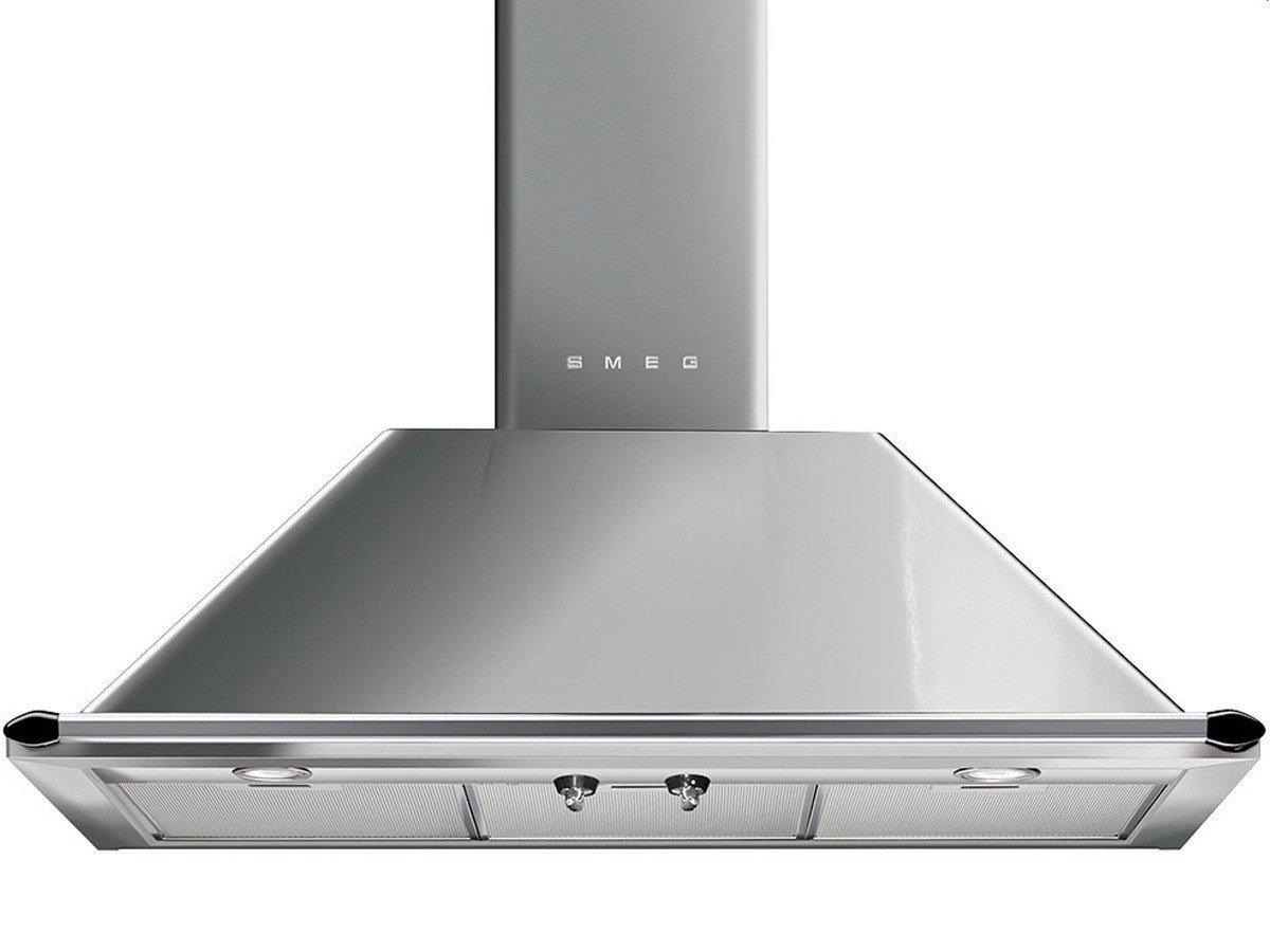 Smeg KTR90XE - Campana (Canalizado/Recirculación, 567 m³/h, A, LED, 225 Lux, Acero inoxidable): Amazon.es: Grandes electrodomésticos