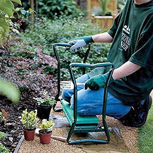 juman634 Faltbare Gartenmatratze und Sitzauflage mit Kleiner Stofftasche Gartengarten Klapphocker Klappgurt Werkzeugtasche Gartenbank