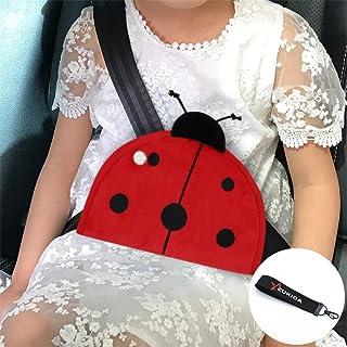 Zukida 子供 枕 キッズ パッド 車用 車枕寝枕 かわいい ショルダーパッド クッション 枕 旅行 可愛い (てんとう虫1)