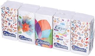 Carmen Pocket Napkins, 10 Pieces - White