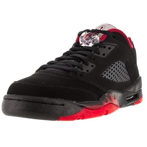 97dad347936 NIKE Air Jordan 5 Retro Low LTD Alternate Basketball Shoes Sneaker Black red