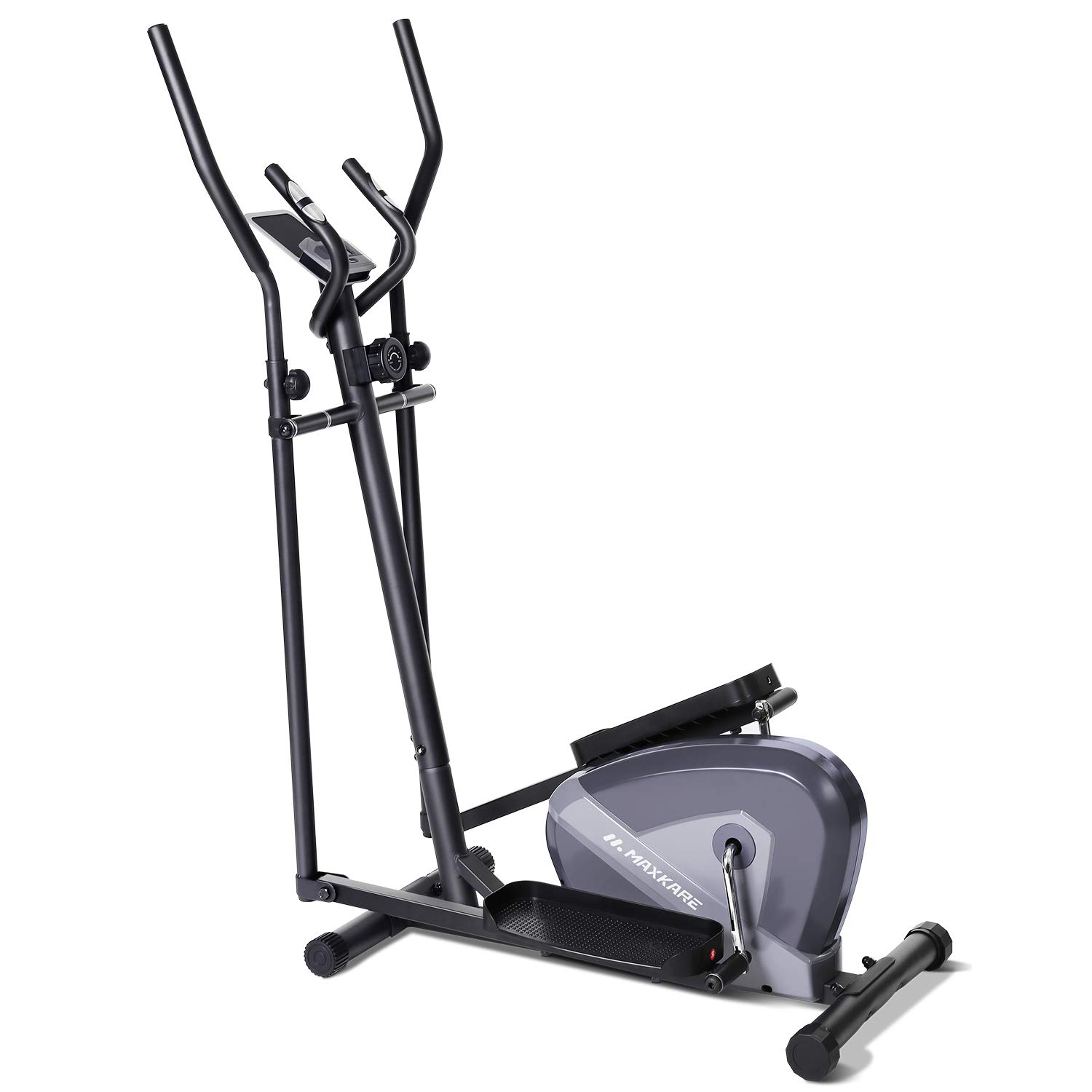 Amazon Com Maxkare Exercise Bike Cardio Training Elliptical Trainers Portable Upright Fitness Workout Bike Machine 8 Level Magnetic Resistance Lcd Monitor Heart Rate Monitor Quiet Driven Calories Burned Sports Outdoors