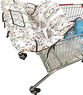 KAKIBLIN Portable Shopping Trolley Cover for Baby Toddler, 2 in 1 Highchair Cover Universal Size Machine Washable