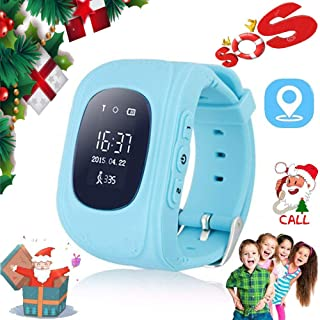 MUXAN Kids Smartwatch, GPS Watch for Kids Anti-Lost with SOS Call Kids Smartwatch Birthday Gift for Boys and Girls Q50