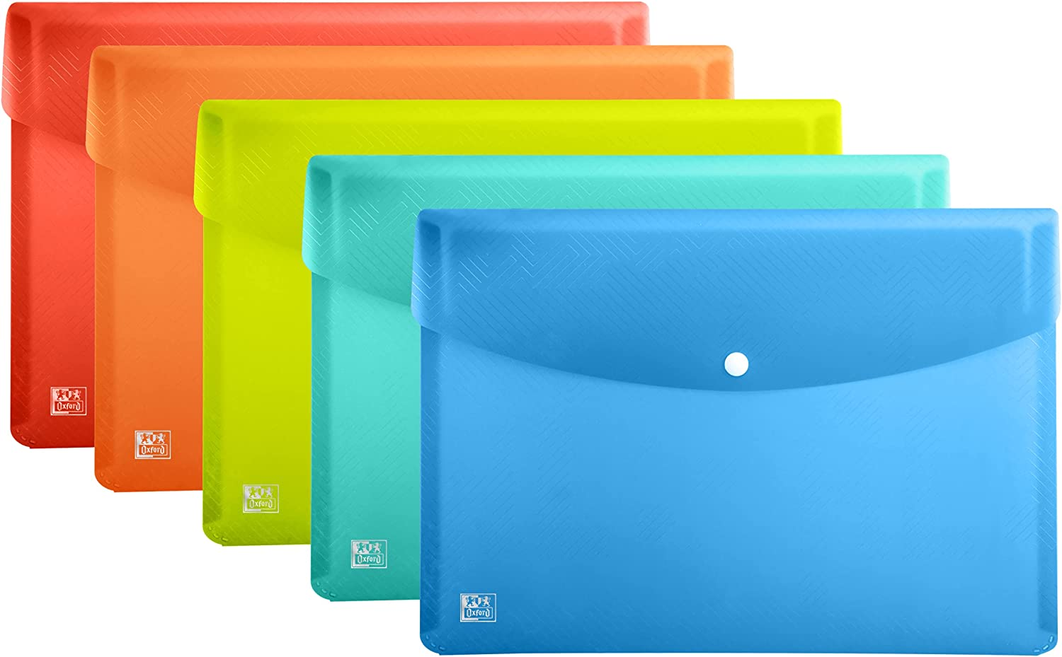 Oxford 5 Pack A3 Plastic Wallets Document Product 70% OFF Outlet Colours