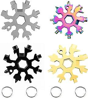 ZPOKA Snowflake 18-in-1 Multi Tool, Stainless Steel Snowflake Bottle Opener/Flat Phillips...