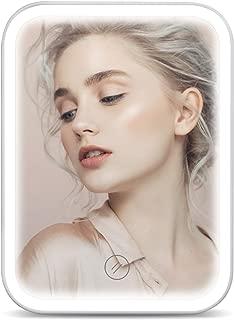 HOCOSY 化粧鏡 LEDライト付き 鏡 女優ミラー 卓上ミラー 明るさ調整可能 USB給電式