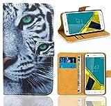 Vodafone Smart Ultra 6 Handy Tasche, FoneExpert® Wallet Hülle Flip Cover Hüllen Etui Ledertasche Lederhülle Premium Schutzhülle für Vodafone Smart Ultra 6 (Pattern 6)