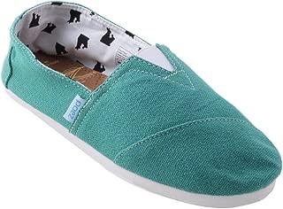 PAEZ Men's Alpargatas Canvas Alpargatas Slip-on Casual Cloth Shoes Flat Loafer Navy