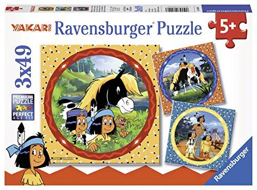 Ravensburger Kinderpuzzle 08000 - Yakari, der tapfere Indianer - 3 x 49 Teile