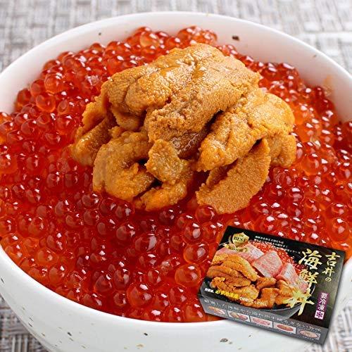 『父の日 プレゼント 人気 海鮮 うに いくら 丼 3~4人前(無添加うに 醤油漬けいくら 海鮮セット) (通常商品)』のトップ画像