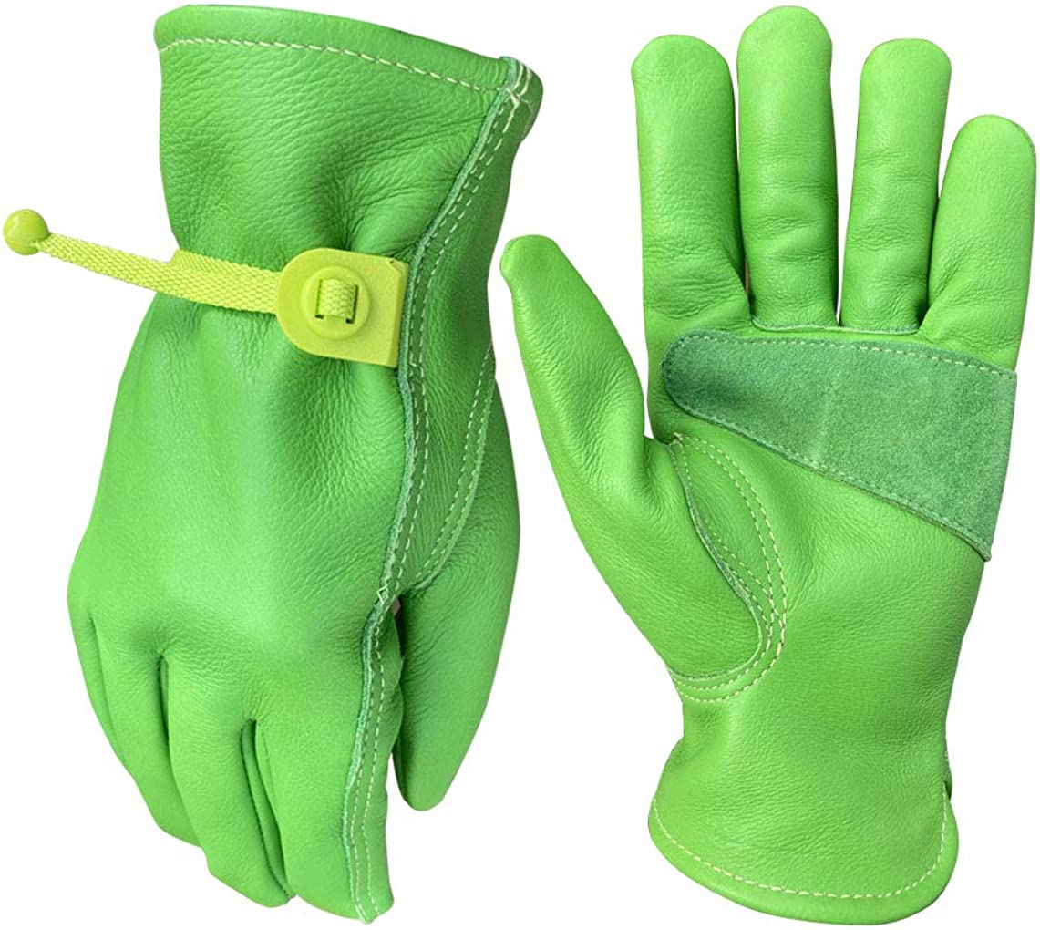 Leather Gardening Gloves for Women | Thorn and Cut Proof Garden Work Gloves