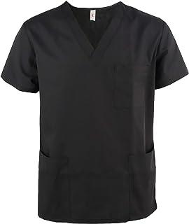 75a9a3447f JONATHAN UNIFORM Camisas Médico Masculino Uniforme Medico con Cuello V para  Hombre Camisa de Uniforme de