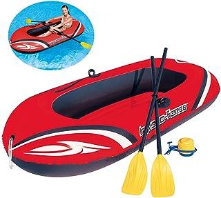 YQDS Canoa al Aire Libre Kayak Inflable Ocio Plegable 1-2 Personas De Espesor Resistente al Desgaste plástico PVC Cómodo Barca Hinchable Lancha Bote Inflable Marina Deportes Aventura Pesca
