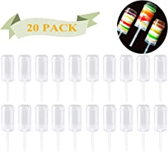 Round Shape Clear Push-Up Cake Pop Shooter (Push Pops) Plastic Containers with Lids, Base & Sticks, Pack of 20