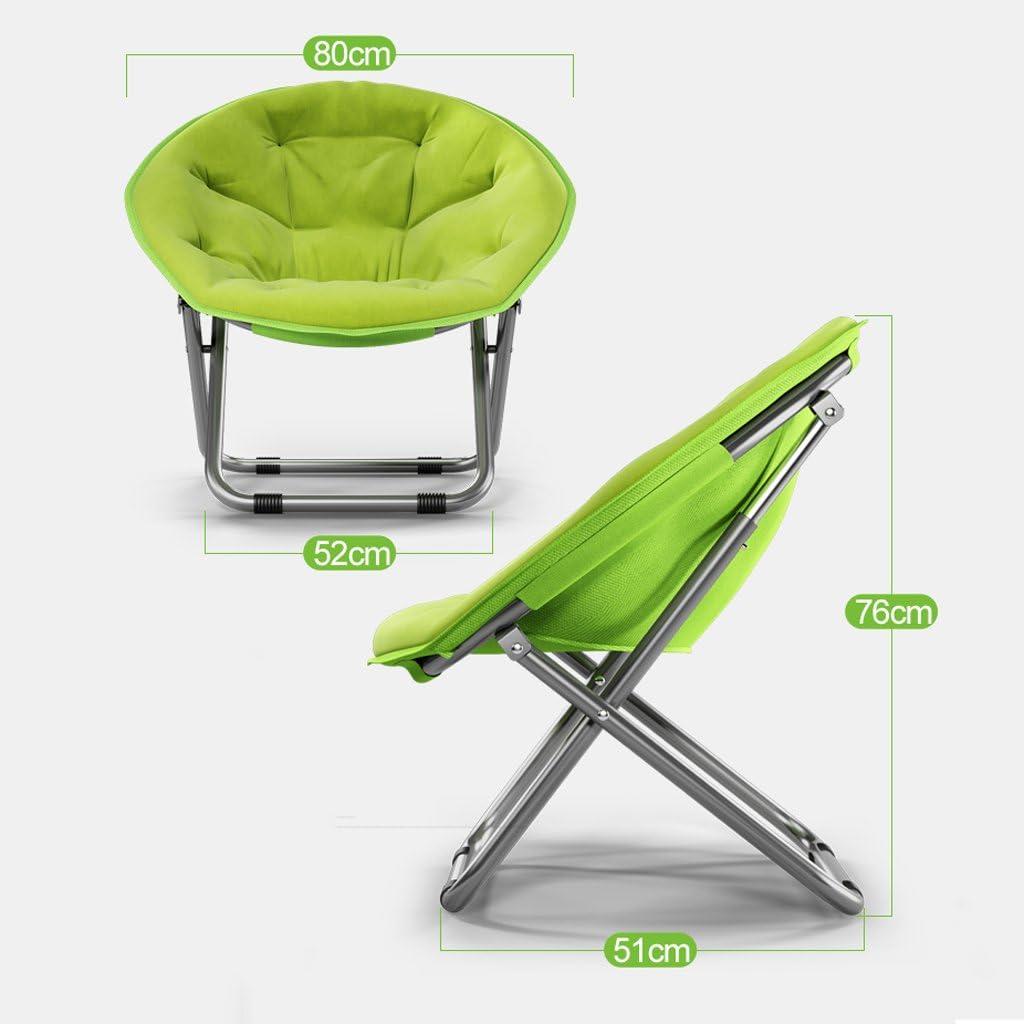 Qing MEI Adulte Moon Chaise Chaise Soleil Lazy Chair Radar Chaise Recliner Chaise Pliante Chaise Ronde Chaise Canapé Chaise Dossier (Couleur : B) C