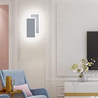 BFYLIN Lampara pared LED, 14W Luz Blanco Frío, Apliques pared Interior Montado en la pared, para Sala de Estar Pasillo Dormitorio, 220V (Blanco-14w Blanco Frío)