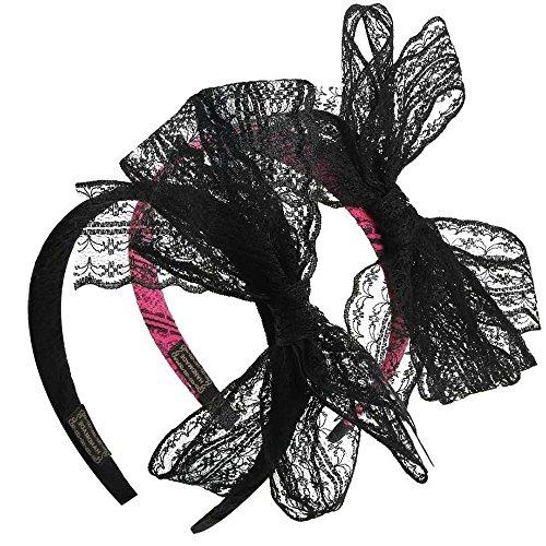2 Pièces 80 partie dentelle arc bandeau cheveux accessoires de cheveux d'arc pour les femmes,