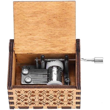 Walfront Music Box in Legno a Manovella, Music Box Regalo di Compleanno in Legno Inciso a Mano in Legno (#2)