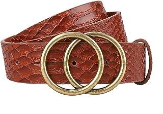 Earnda Women's Leather Belt Fashion Soft Faux Leather Waist Belts For Jeans Dress 1 1/4