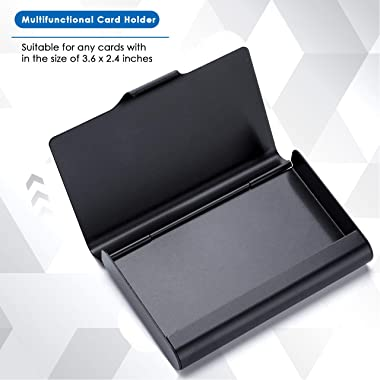 MaxGear Large Metal Business Card Holder for Men & Women, Pocket Business Card Case Business Card Wallet Business Card Ho