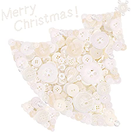 Keadic 1000PCS Buttons Favorite Findings Basic Resin Buttons 2 and 4 Holes for DIY Crafts Sewing Christmas Party Decorations Childrens Manual Button Painting Green