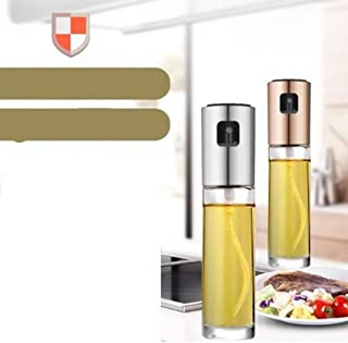 Olive Oil Sprayer Dispenser for Cooking, Food-Grade Glass Oil Spray Transparent Vinegar Bottle Oil Dispenser 100ml for Kitchen