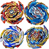 UGY 4 Pieces Bey Battle Burst Gyro Attack Blades Metal High Performance Battling Top Burst Battle Toys Set, Birthday Party Best Toys Gifts for Boys Kids Children Age 8+