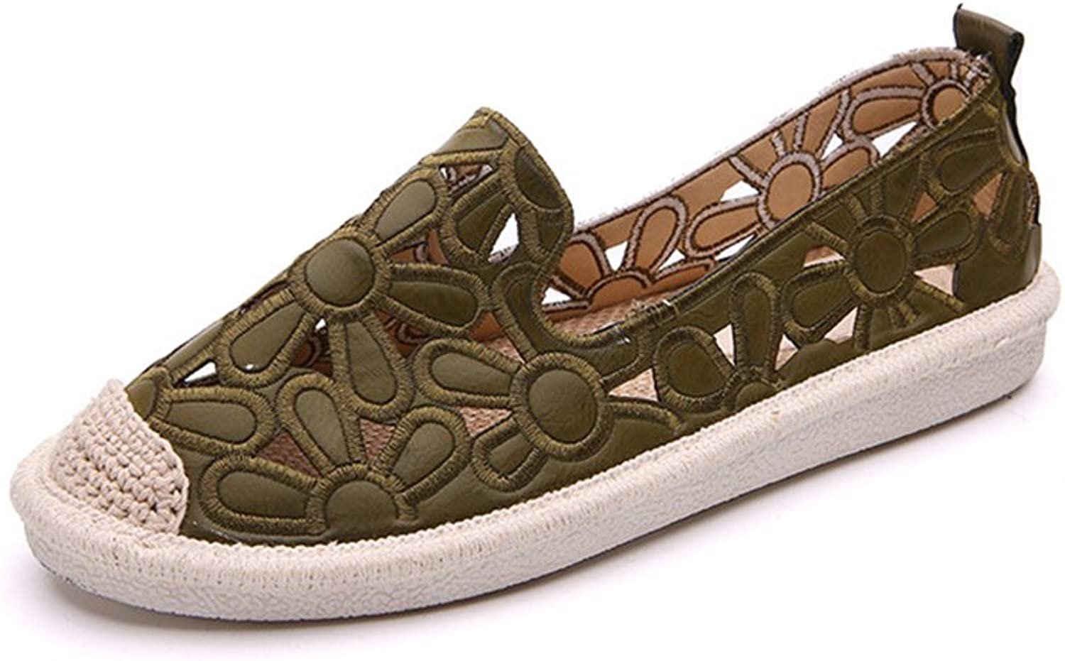 Espadrille Womens Comfort Flats Slip-ONS shoes with Imprint Comfort Technology