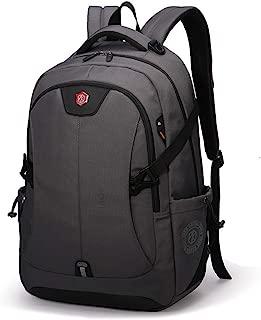 Sturdy Fashian Male Computer Backpack Schoolbag Travel Handbag Waterproof Shoulder Handbag Large Capacity Commercial Large Capacity (Color : Gray)