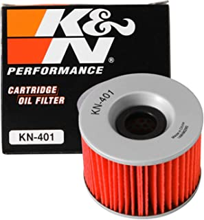 K&N Motorcycle Oil Filter: Premium High Performance Oil Filter designed to be used with synthetic or conventional oils fits some Kawasaki, GPZ, ZR, KZ, GT, ZX, GPX models Oil Filter KN-401