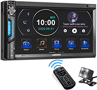 Double Din Car Stereo System, ABSOSO 7 Inch HD Touchscreen MP5 Car Player, Bluetooth Car Radio Receiver Supports PhoneLink...