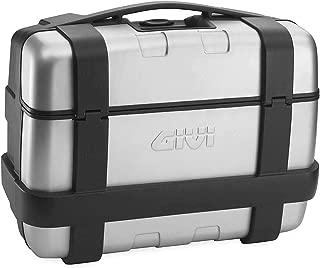 Givi TRK33 Trekker Monokey Top/Side Case (33 Liter) (Brushed Aluminum/Matte Black)