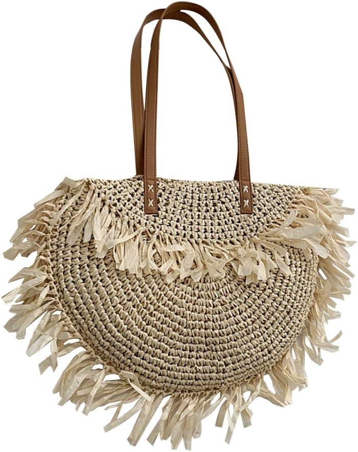 Amosfun hobo Bag Crossbody 1pc Beach Handbag Woven Bag Women Handbag Shopping Bag Leisure Bag Storage Pouch
